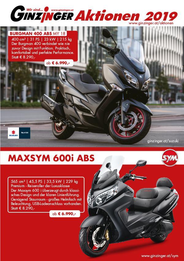 Ginzinger Aktionen 2019 Motorrad & Scooter & Moped Motorroller Aktionen 2019
