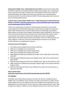 Global Bladder Cancer Epidemiology Forecast to 2025