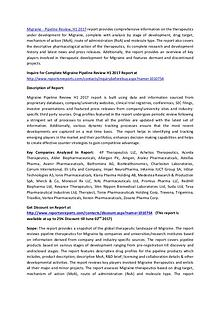 Migraine Drugs Pipeline Review 2017