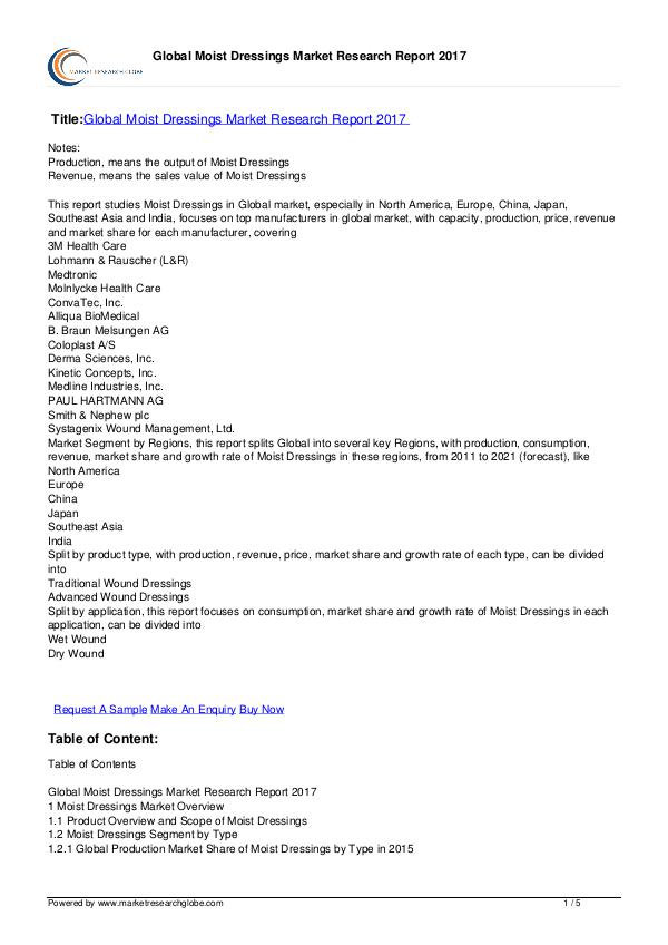 Europe Tire Market Report 2016 Global Moist Dressings Market Research Report 2017