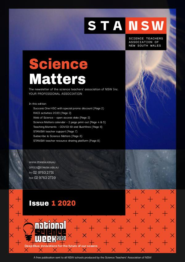 Science Matters Quarterly Newsletter (2020) Science Matters Newsletter #1 2020 March Term 1