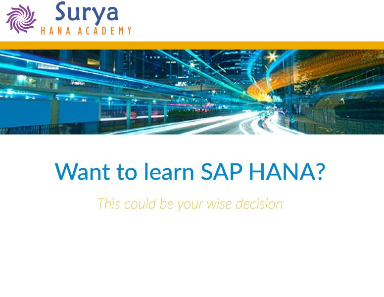 LEARN SAP BW/4HANA 1