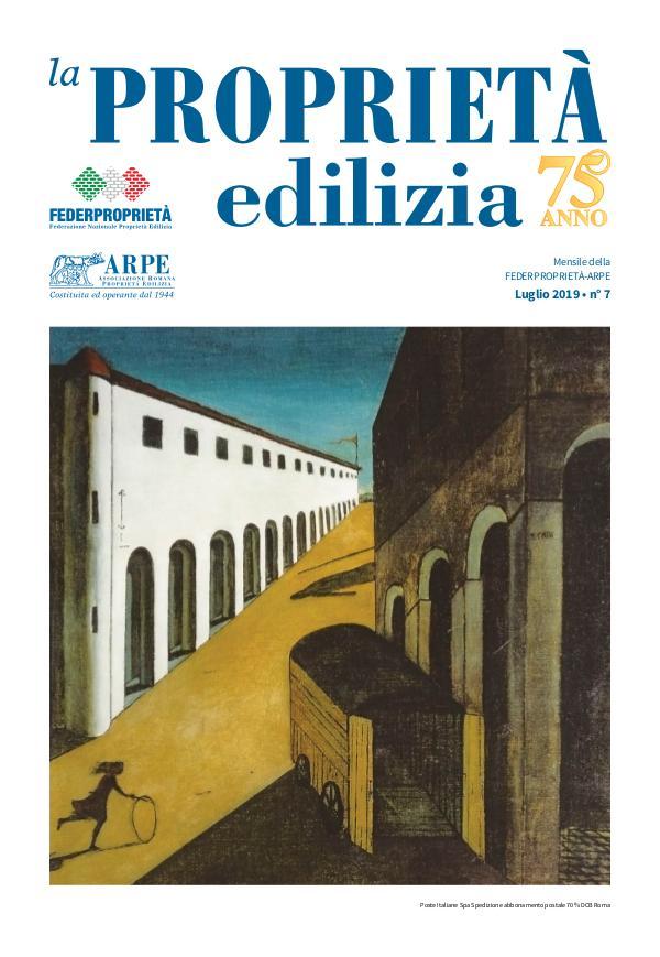 La Proprietà Edilizia - Luglio 2019 ARPE7