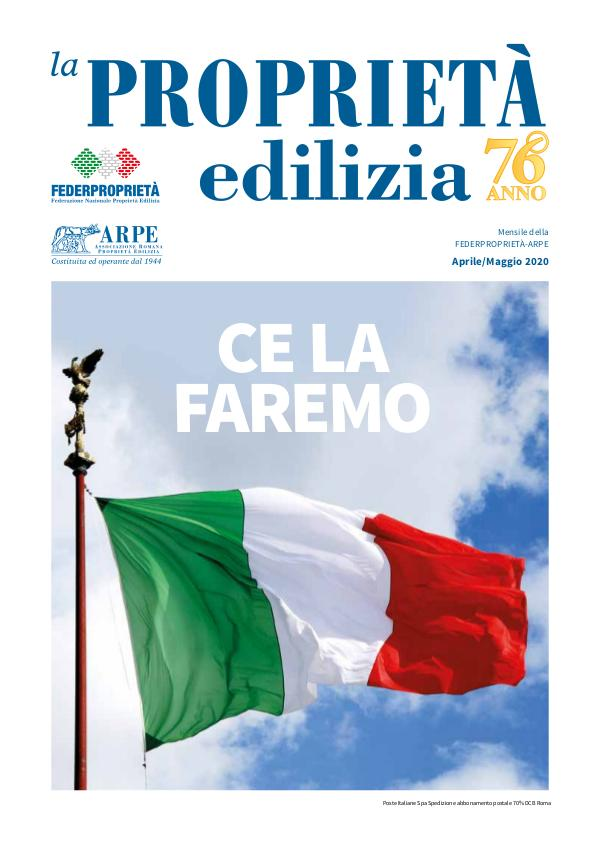 La Proprietà Edilizia - Aprile/Maggio 2020 ARPE4-5