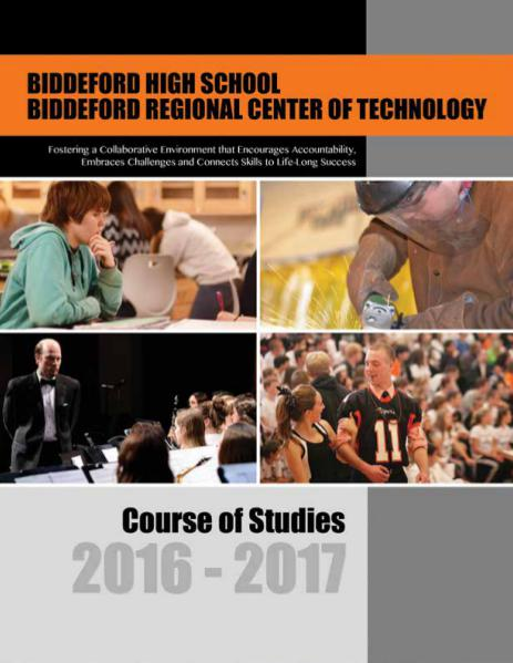 BHS Course of Studies 2016 2016-2017