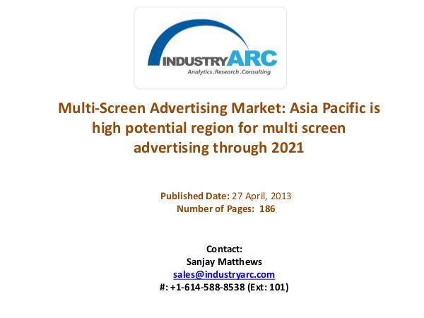 Multi-Screen Advertising Market Analysis | IndustryARC Multi-Screen Advertising Market Analysis| Industry