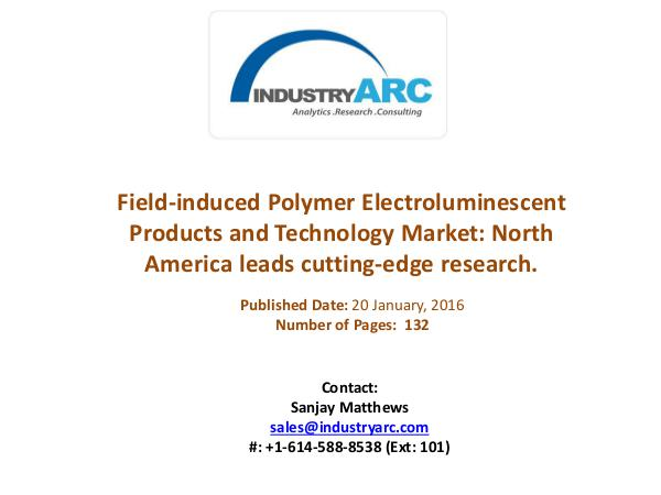 FIPEL Technology Market: FIPEL bulbs found to be more efficient Field-induced Polymer Electroluminescent Products