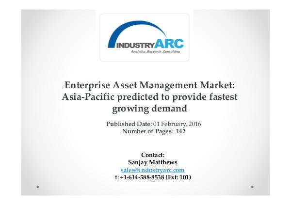 Enterprise Asset Management Market expects cloud based EAM solutions Enterprise Asset Management Market expects cloud b