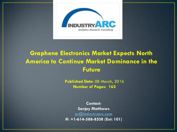 Graphene Electronics Market: University of Exeter Develops Cheap New Graphene Electronics Market Expects North America