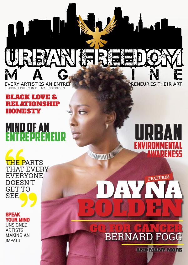 Urban Freedom Magazine Winter 2017- Dayna Bolden Cover
