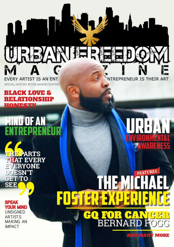 Urban Freedom Magazine Winter 2017- Michael Foster Cover