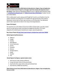 Platform Screen Doors (PSD) Market Global industry Report