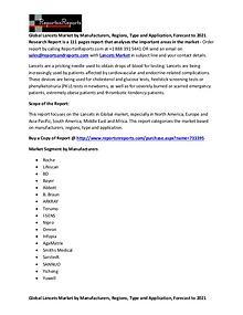 Global Lancets Market Report on Industry Fields