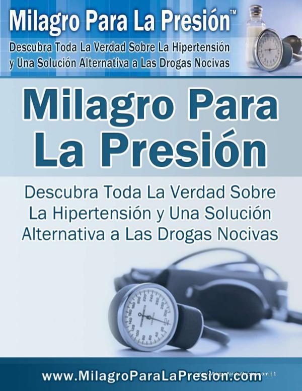 MILAGRO PARA LA PRESION LIBRO GRATIS DESCARGAR 2021