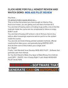 Mob Ads Pilot Review