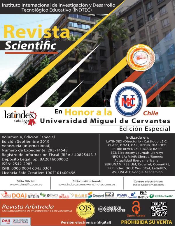Revista Scientific Volumen 4 / Edición Especial - Septiembre 2019