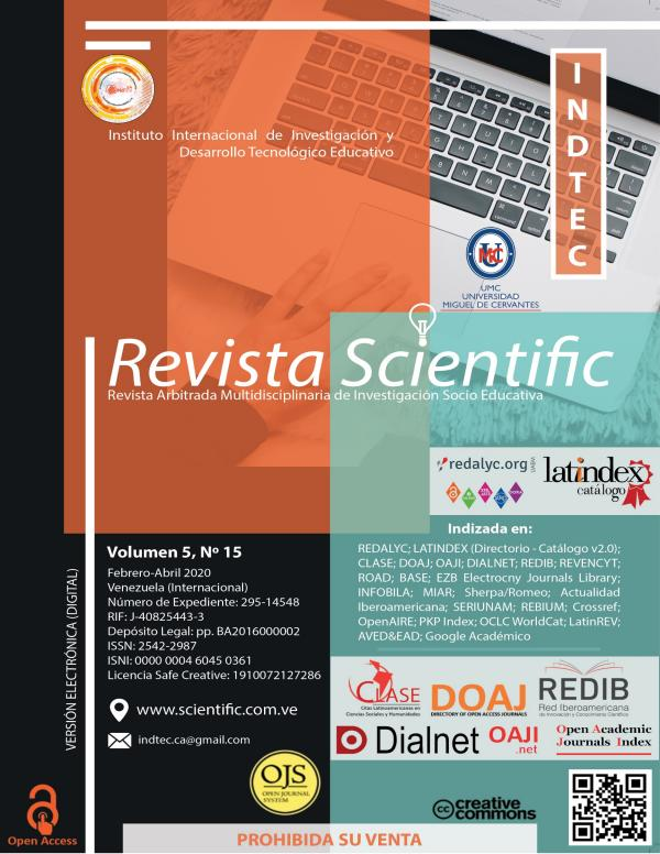 Revista Scientific Volumen 5 / Nº 15 - Febrero-Abril 2020