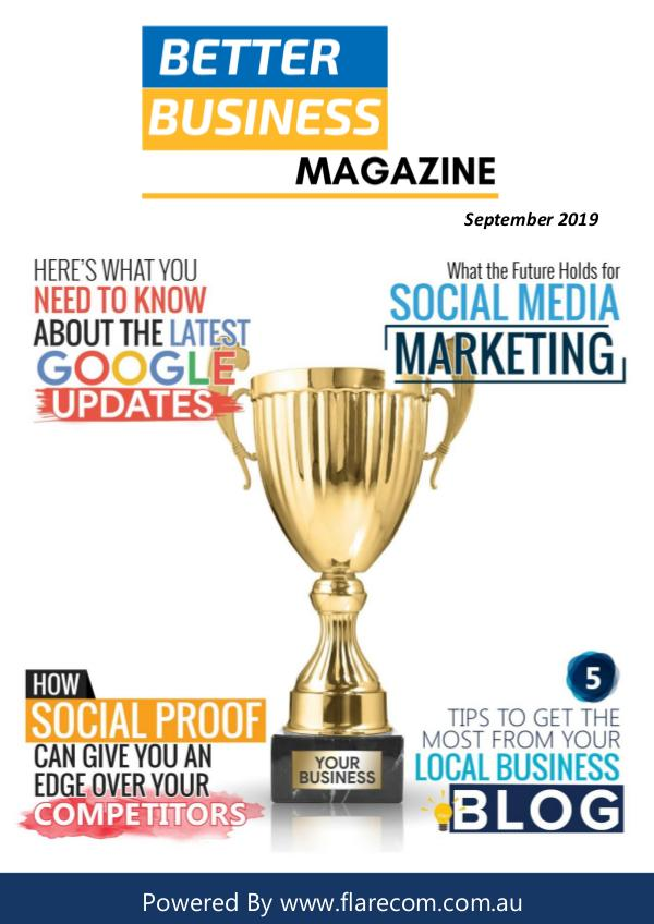 Better Busines Magazine Better Business Magazine - September 2019