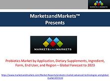 Probiotics Market – Global Forecast to 2023