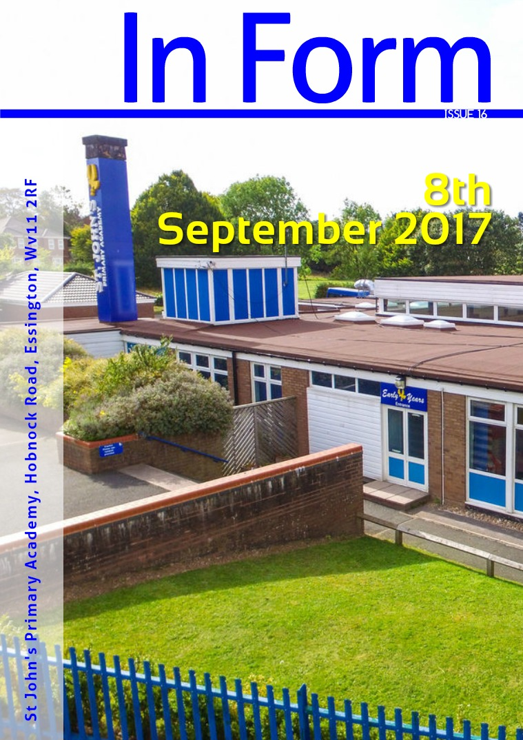 Newsletter - 8th September 2017