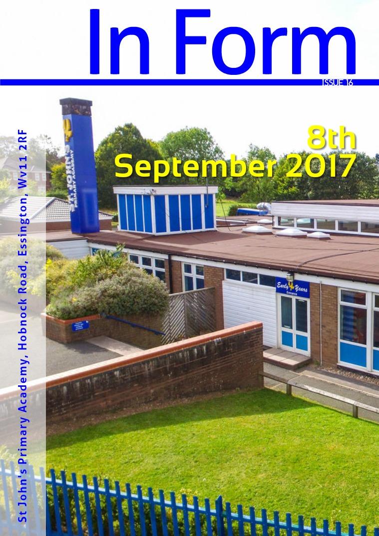 Newsletter - 8th September 2017