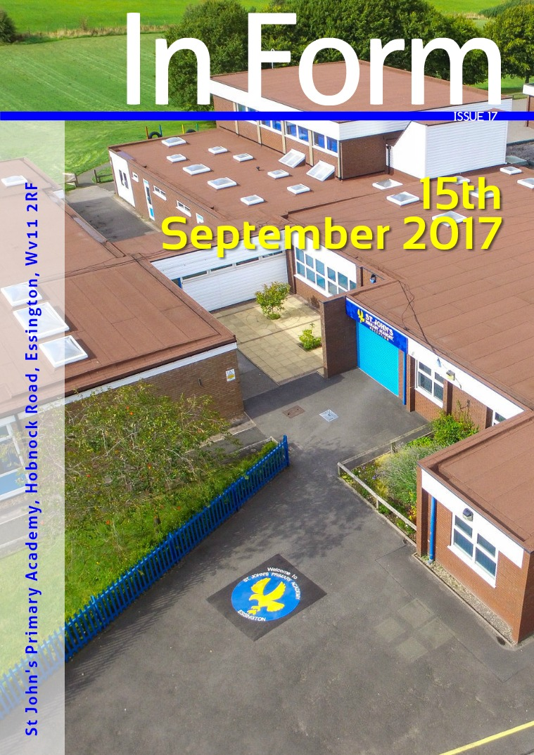Newsletter - 15th September 2017
