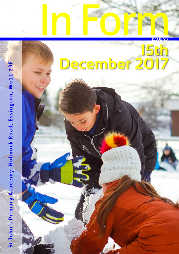 Newsletter - 15th December 2017