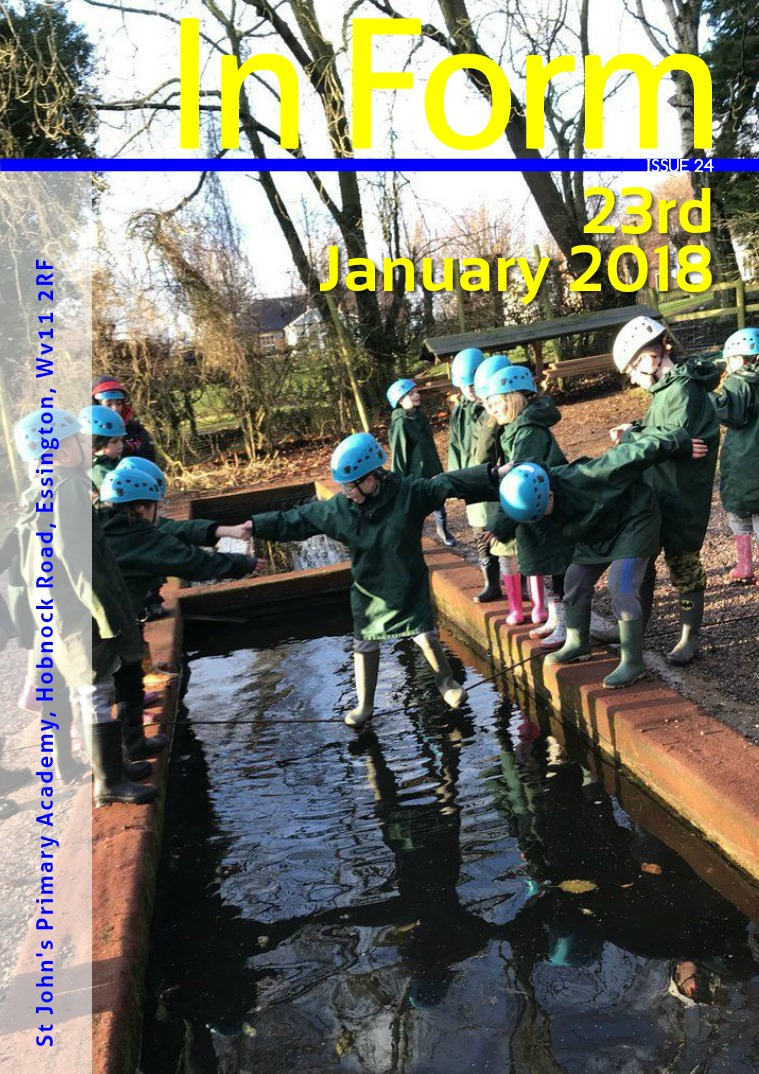 Newsletter - 23rd January 2018