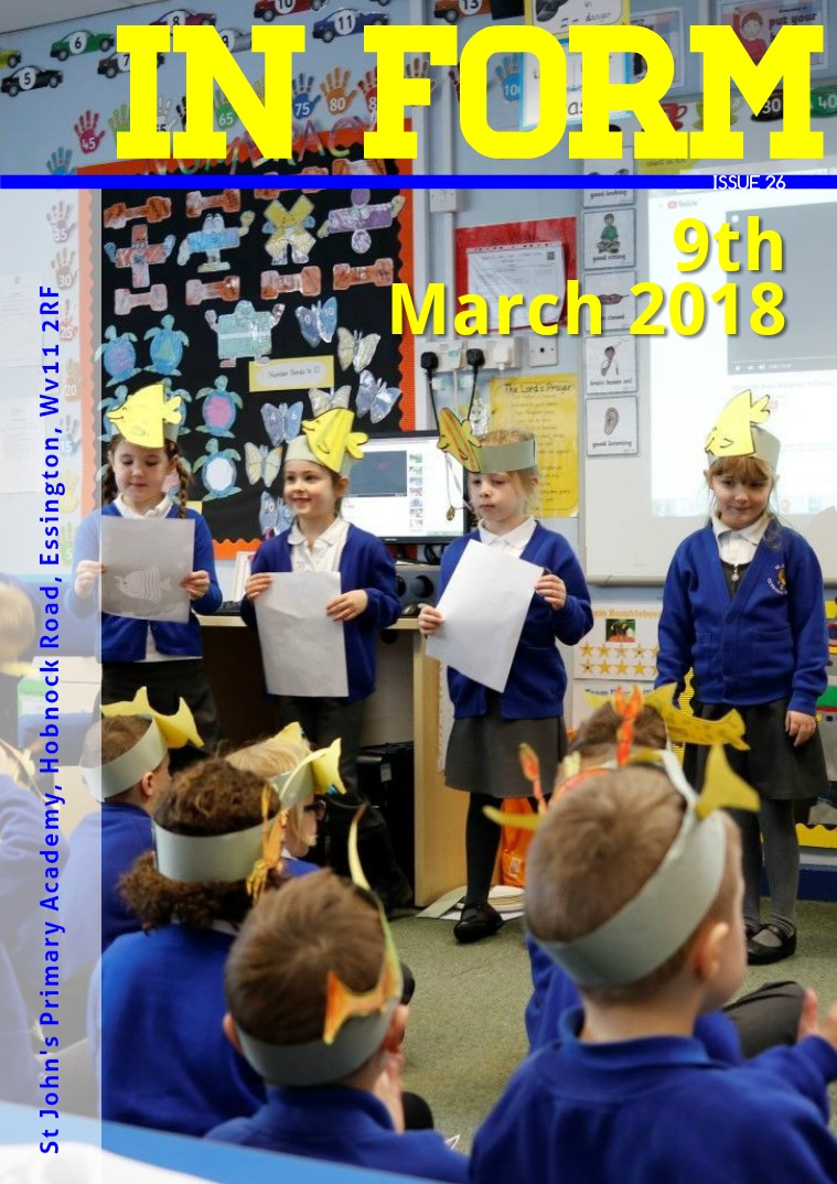 Newsletter - 9th March 2018
