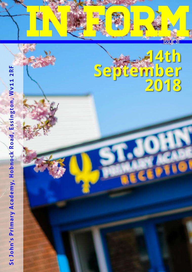 Newsletters | St John's Primary Academy Newsletter - Friday 14th September 2018