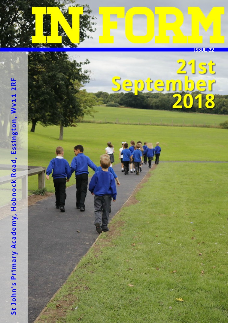 Newsletters | St John's Primary Academy Newsletter - Friday 21st September 2018