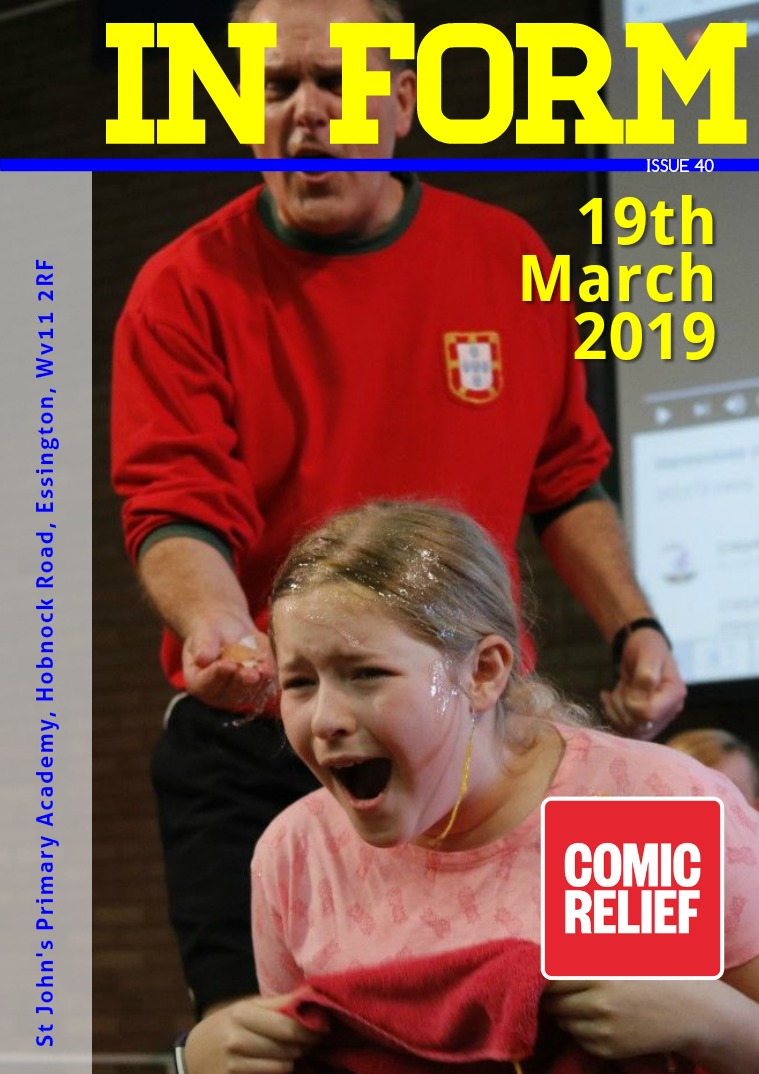 Newsletters | St John's Primary Academy Newsletter Tuesday 19th March 2019