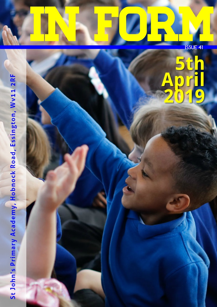 Newsletters | St John's Primary Academy Newsletter Friday 5th April 2019