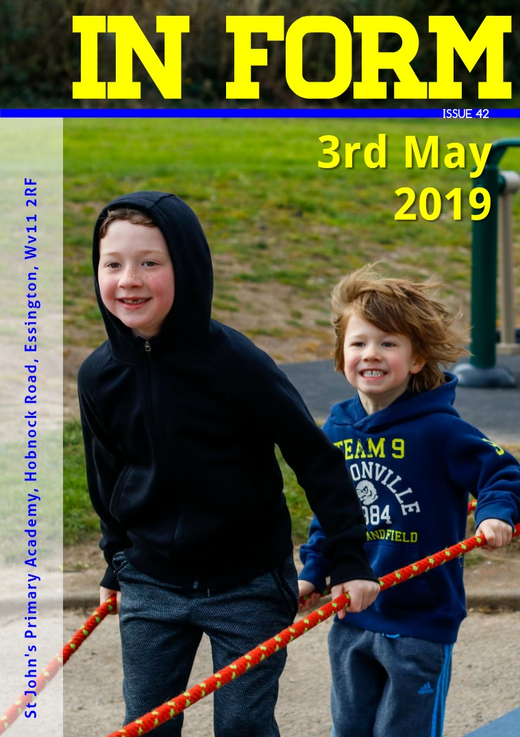 Newsletters | St John's Primary Academy Newsletter Friday 3rd Mayl 2019