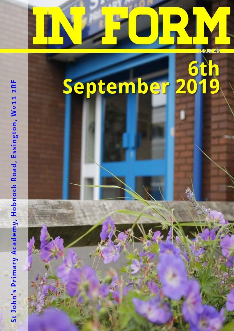 Newsletters | St John's Primary Academy Newsletter - 6th September 2019