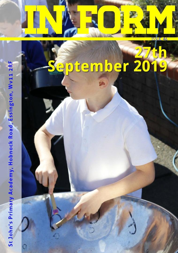 Newsletters | St John's Primary Academy Newsletter - 27th September 2019(clone)