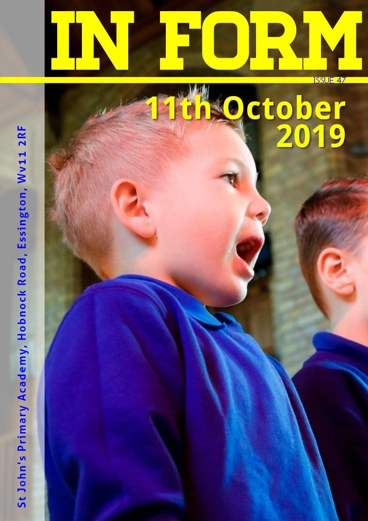 Newsletters | St John's Primary Academy Newsletter - 11th October 2019