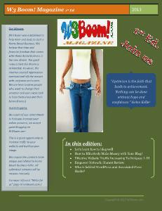 W3 Boom Magazine 1st Ed
