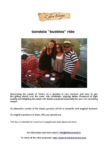 "Gondola ""bubbles"" ride"