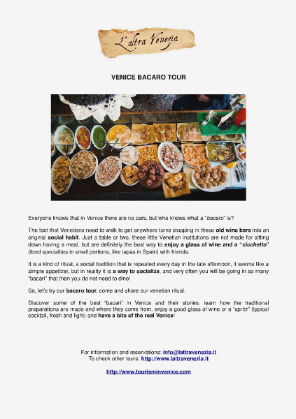 Venice bacaro tour