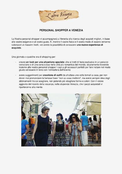 Venezia Altrimenti Personal shopper a Venezia