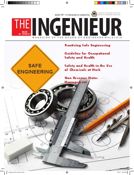 The Ingenieur Vol 59 July-Sept 2014 The Ingenieur Vo. 59, July-Sept 2014