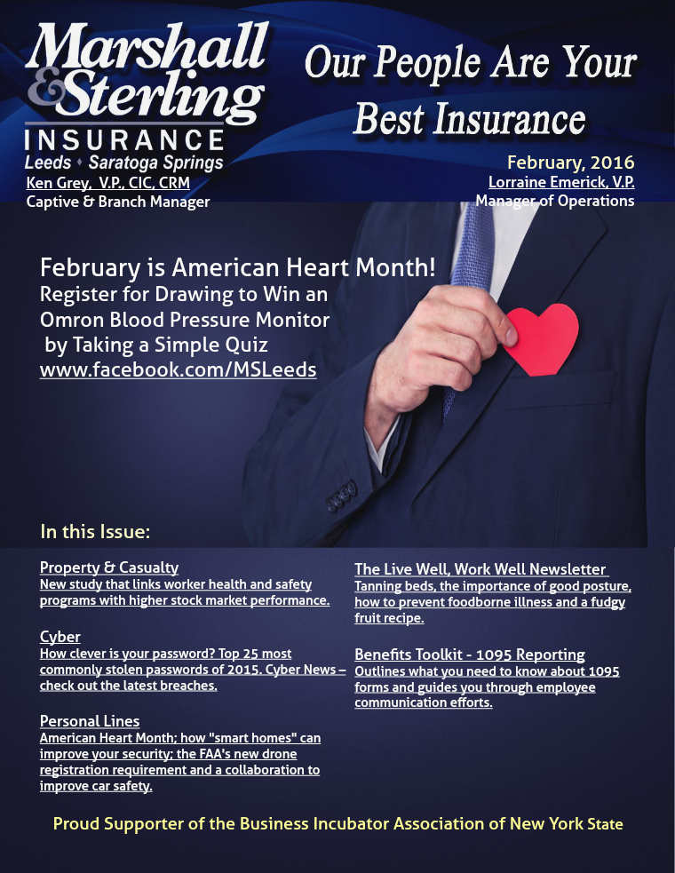 Marshall & Sterling Insurance February, 2016