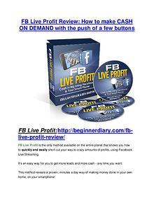 FB Live Profit review - A top notch weapon