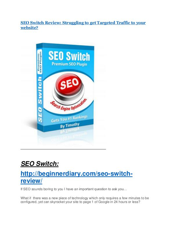 SEO Switch Review-(Free) bonus and discount SEO Switch review - (FREE) Jaw-drop bonuses