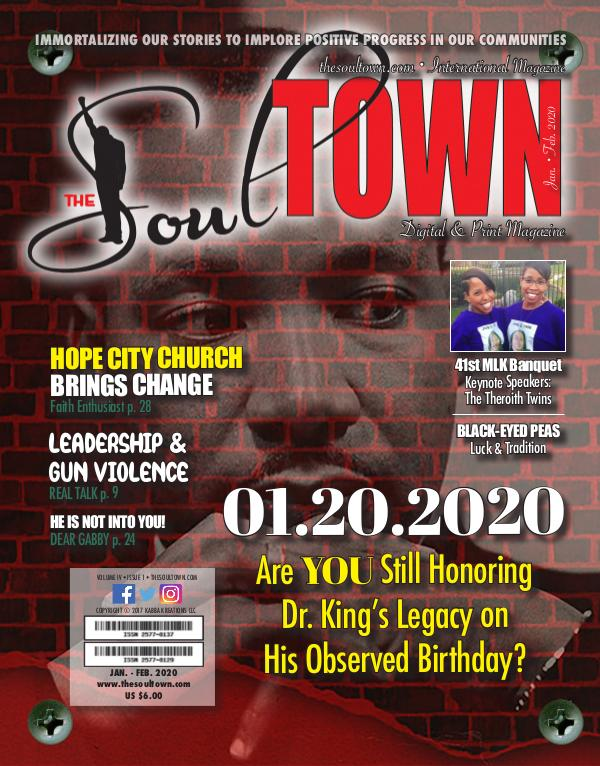 The Soultown! Volume IV: Issue 1 JANUARY 2020