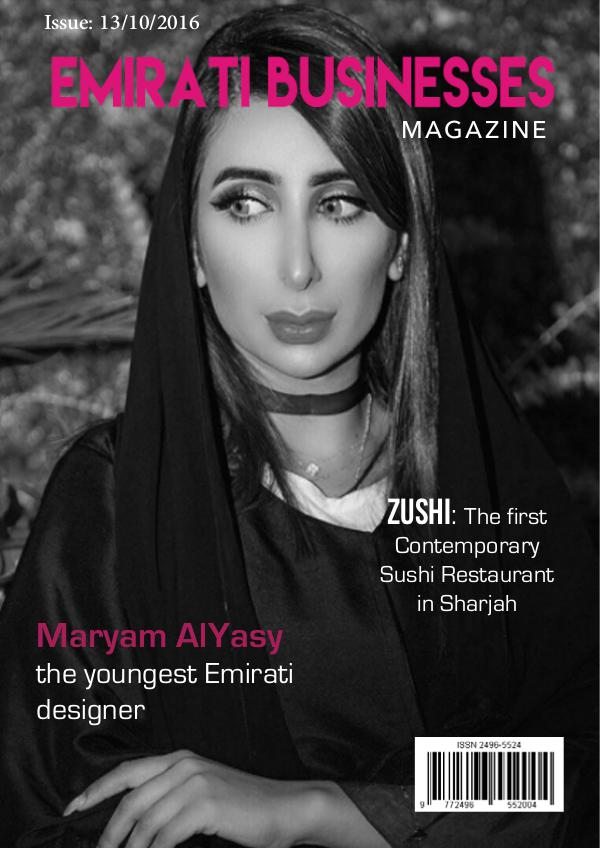 Emirati Business Magazine Emirati Businesses magazine