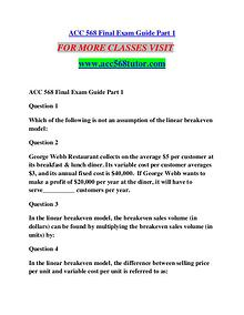 ACC 568 TUTOR Learn by Doing/acc568tutor.com