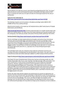 2021 Aerobridge Market Key Vendors Analysis and Forecast Report