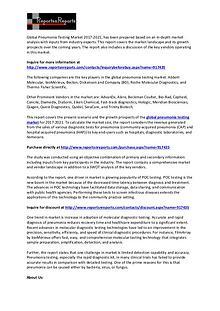 Global SWOT Analysis on Pneumonia Testing Market 2017 to 2021